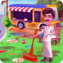 School Food Truck Cooking and Cleaning