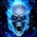Blue Fire Skull Live Wallpaper