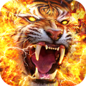 Flame Tiger Live Wallpaper