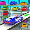 Multi Level Police Car Parking Car Driving Sim