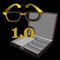 Math Word Decode Fun Item - Gold Glasses Box
