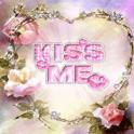Flower Heart Kiss Me Live Wall