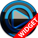 Poweramp widget BLACK BLUE