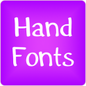 Hand fonts for FlipFont® free