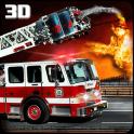 Modern Fire Driver Truck 3D