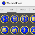 Royal Blue Gold Icon Pack - HD