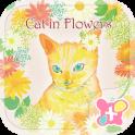 Thèmes gratuits★Cat in Flowers