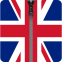 UK Flag Zipper Phone Lock