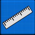 Régua Blueprint - Cm & Inches