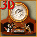 Thanksgiving Animated Clock 3D