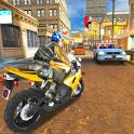 perseguir el tráfico de moto