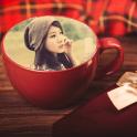 कॉफी कप फोटो फ्रेम