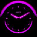 A-PURPLE Laser Clock Widget