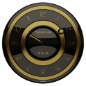 Widget horloge noir or