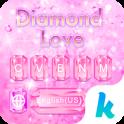 Diamond Love Keyboard Theme