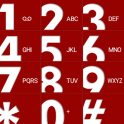 Red big button EXDialer theme
