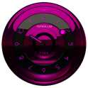 Widget Horloge rose noir