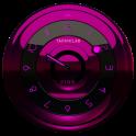 Widget Schwarz Pink Clock