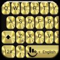 Keyboard Theme Metallic Gold