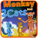 Monkey and 2Cats Kids Story