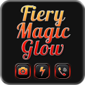 Fiery Magic Glow Black Theme