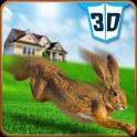 Pet Conejo vs Perro Ataque 3D