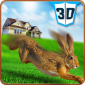 Haustier-Kaninchen Vs Dog 3D