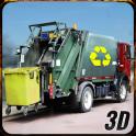 City basura Camión conductor