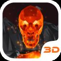 Flaming Skull 3D Theme
