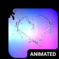 Heart Splash Animated Keyboard + Live Wallpaper