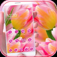 Pink flower wallpaper Theme