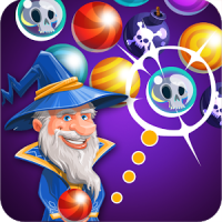 Bubble shooter with hero