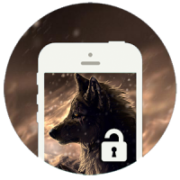 Brown Wolf Screen Lock NEW