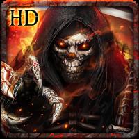 Flaming Grim Reaper Live Wallpaper