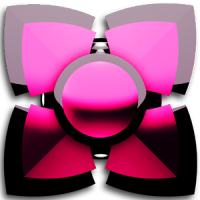 pink black 3D Next Launcher