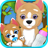 Newborn Puppy & Mommy Dog Virtual Pet Shop Animals