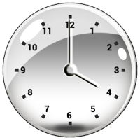 Transparent Clock Widget