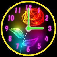 Fleurs de Néon Horloge