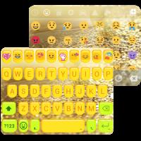 Golden Bow Emoji Keyboard Skin