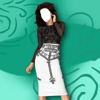 여자 드레스 사진 몽타주