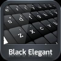 GO Keyboard Schwarz Elegant