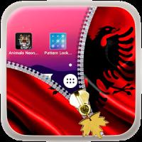 Albania Flag Zipper LockScreen