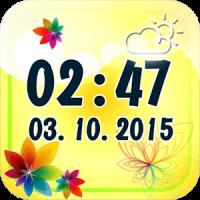 Flower Digital Weather Clock