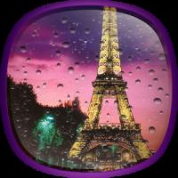 Pluie à Paris Fond Animé
