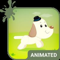 Cute Dog Animated Keyboard + Live Wallpaper