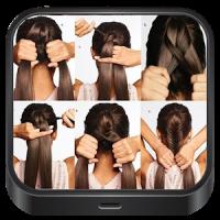 シンプルなヘアスタイル。