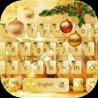 Gold Christmas Keyboard Theme