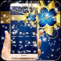 Golden Blue Flower Deluxe Gold