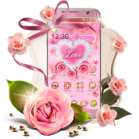 Pink Diamond Flower Love Theme