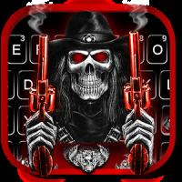 Skull Fire Guns Keyboard Theme